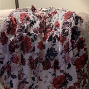 Lucky Brand Floral Tunic Blouse LS SZ 1X